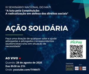 III Seminário Nacional do MATI promoverá nova ação solidária em apoio à advocacia trabalhista