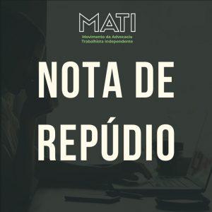 MATI NOTA DE REPÚDIO